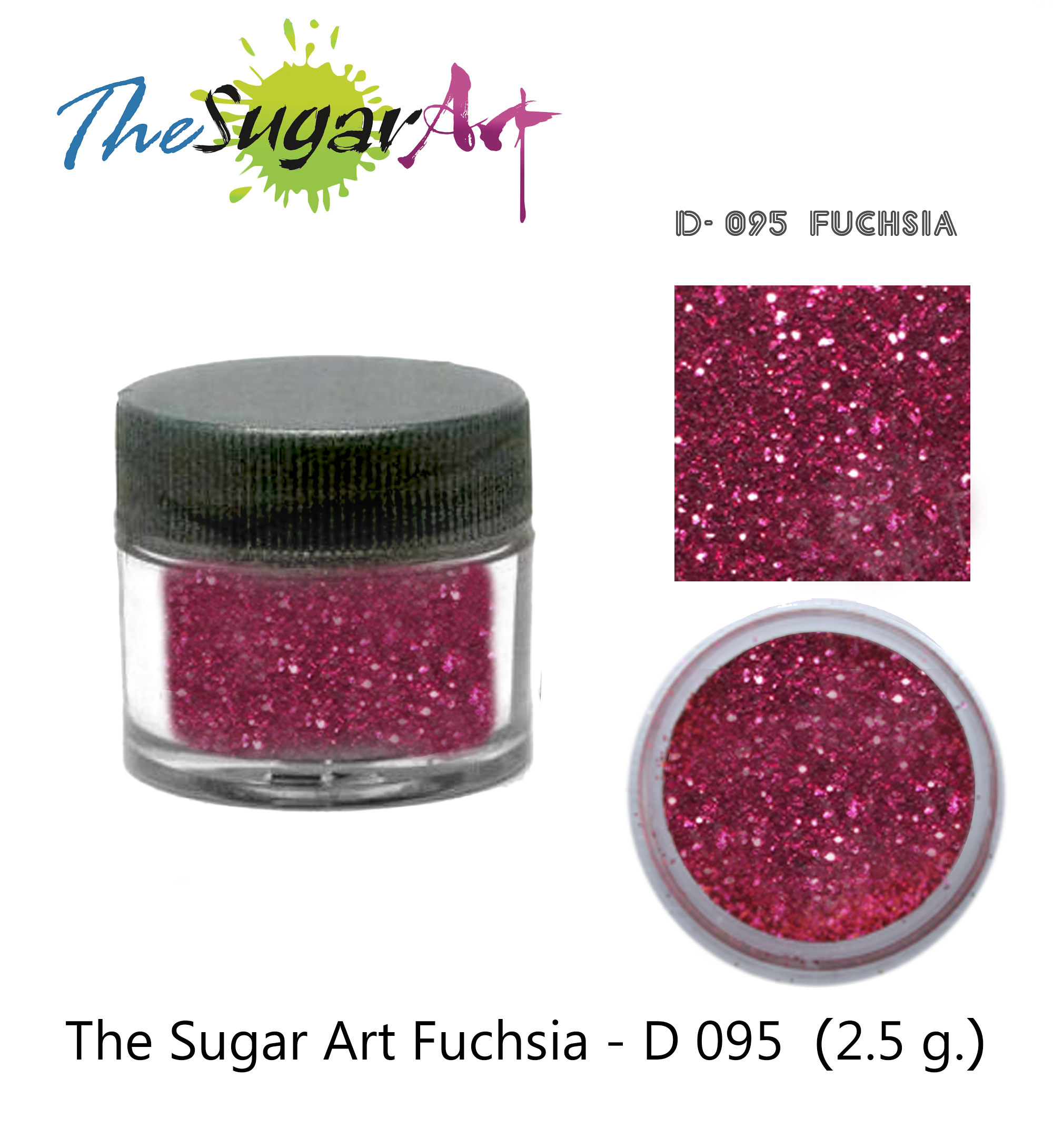 The Sugar Art Fuchsia D-095 2.5 g.