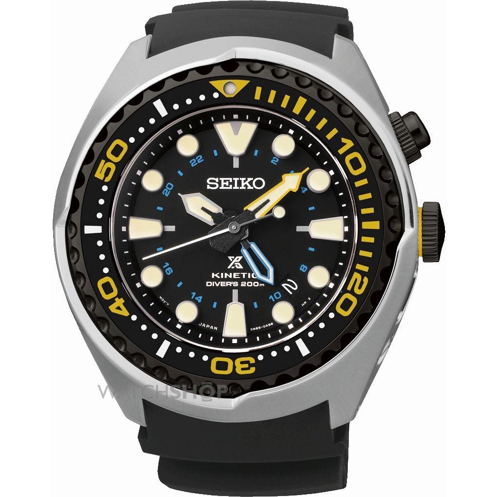 นาฬิกาข้อมือผู้ชาย SEIKO Prospex Diver Kinetic GMT Men's Watch รุ่น SUN021P1