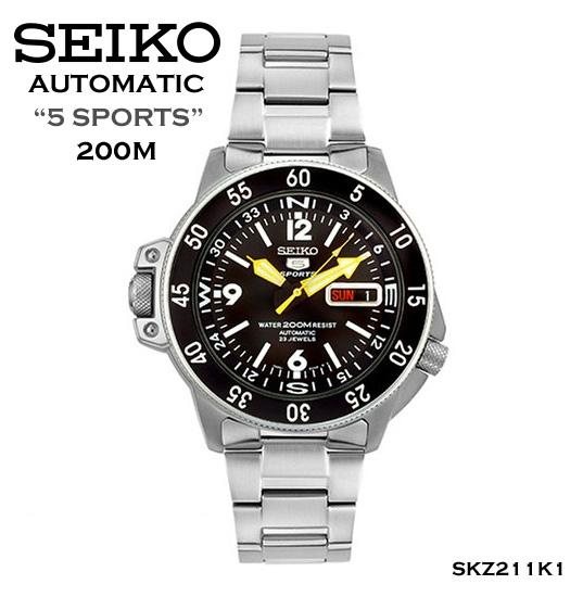 นาฬิกาข้อมือ SEIKO 5 Sport รุ่น SKZ211K1 Autumatic Jungle Master