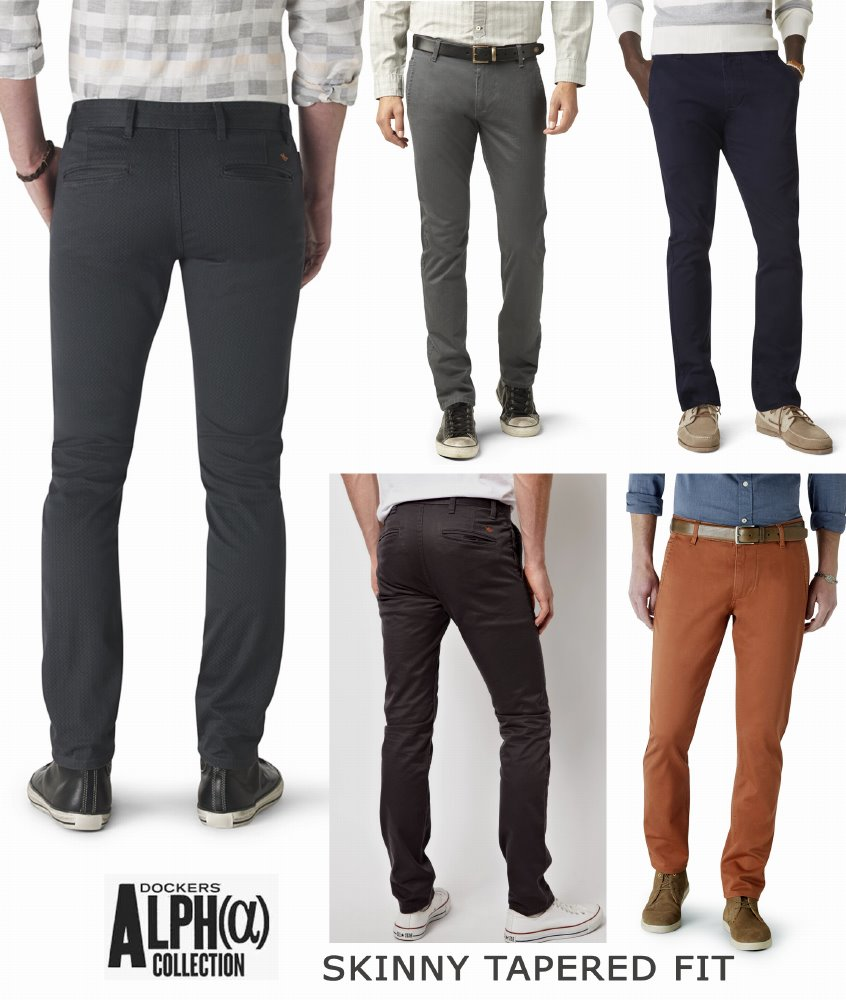 Dockers Alpha Khaki Skinny Tapered - Stretch Pants