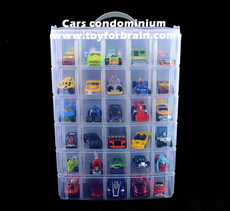 กล่องเก็บรถเหล็ก hot wheels Tomica รถโมเดล เก็บได้ 30 คัน มี 3 ชั้น 3 layer Car storage box