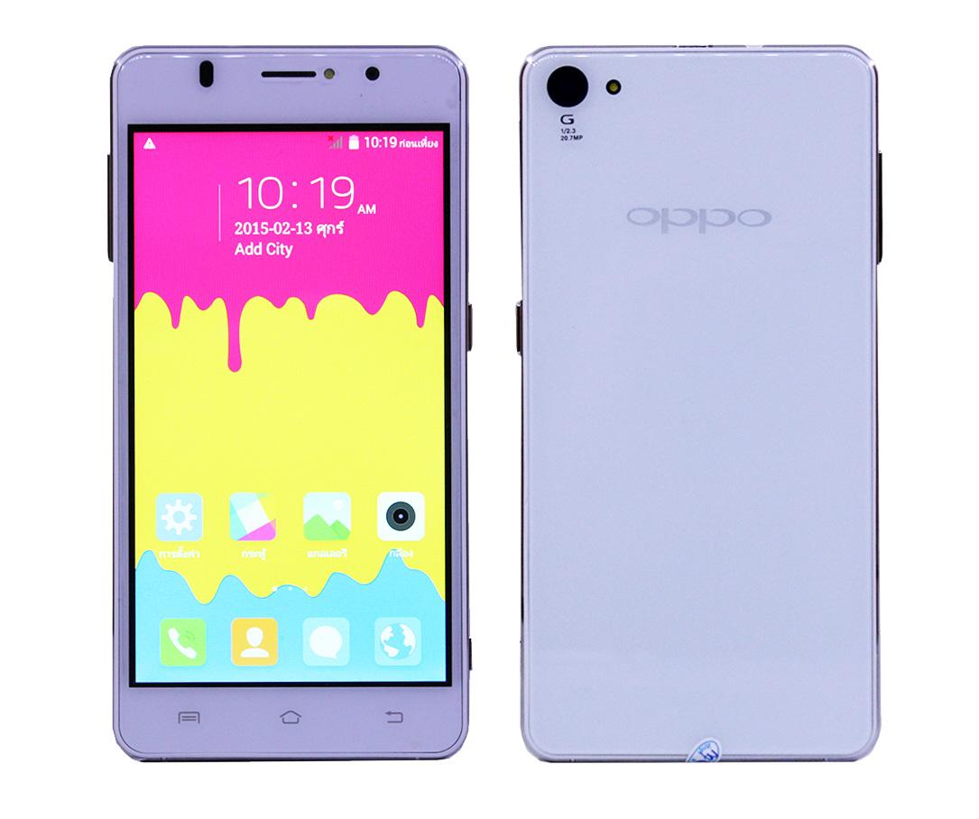 OPPO X5 (Clone) 3G 2 sim บางเบา สวยหรู กล้อง 5ล้าน มีแฟลชด้านหน้า สีขาว