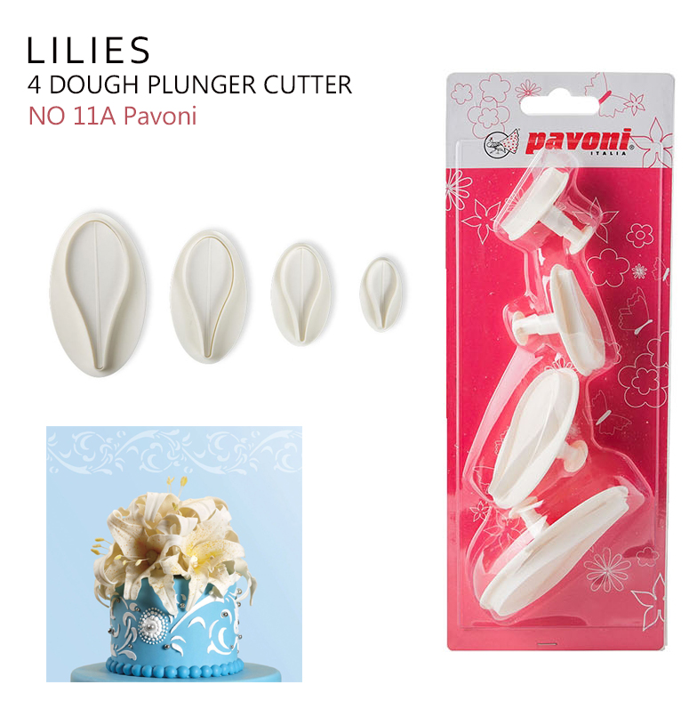 NO 11A Special LILIES Dough Cutter (4ชิ้น)