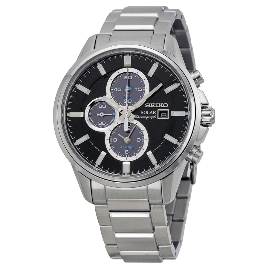 Seiko Men's SSC267 Solar-Power Stainless Steel Bracelet Watch