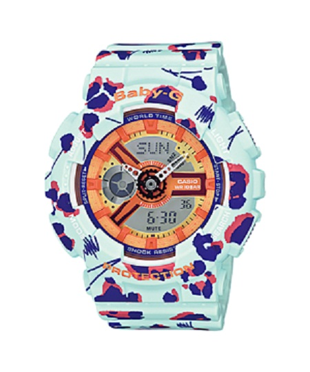 นาฬิกาผู้หญิง CASIO Baby-G รุ่น BA-110FL-3A Ladies Watch