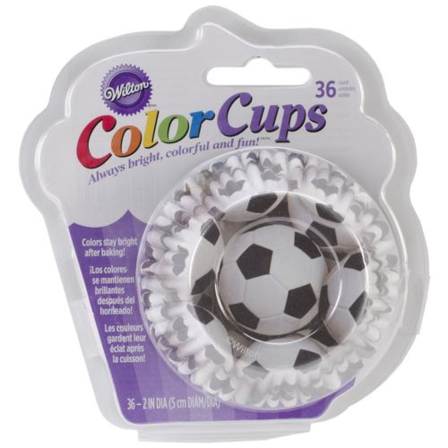 Wilton clrcup std soccer 30 pcs. คัพเค้กฟุตบอล / COLORCUPS SOCCER CUPCAKE LINERS (415-2135)