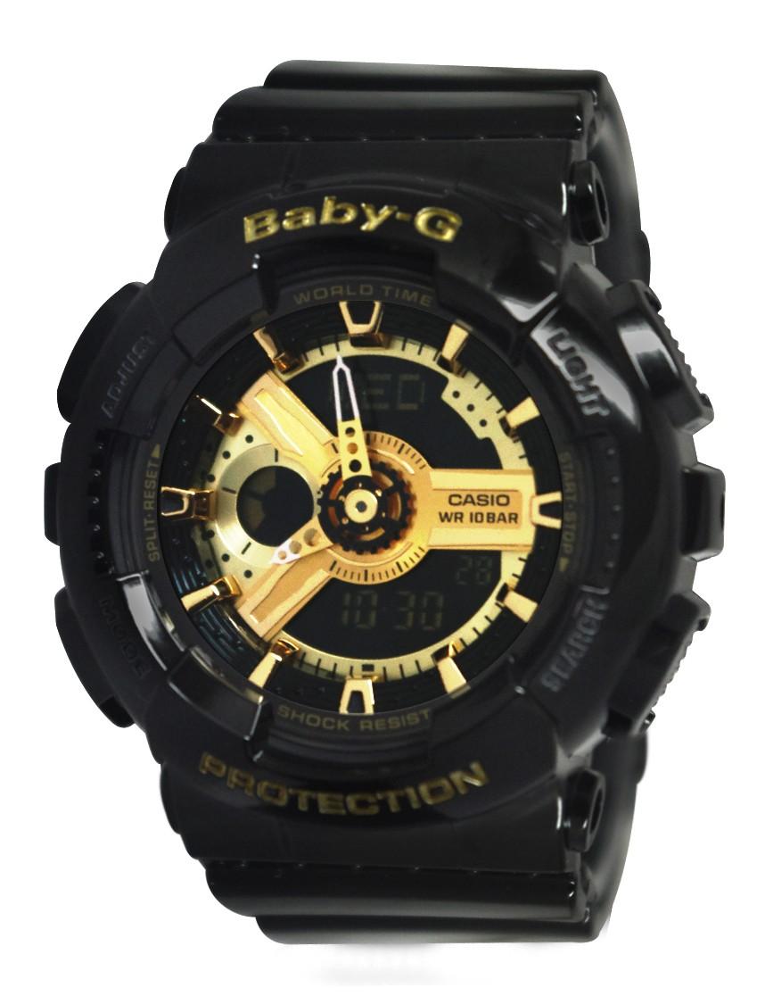 Casio Baby-G BA-110-1ADR black gold series