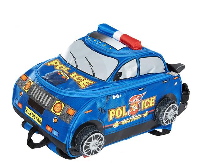 กล่องรถตำรวจ สีน้ำเงิน police car bag -Blue