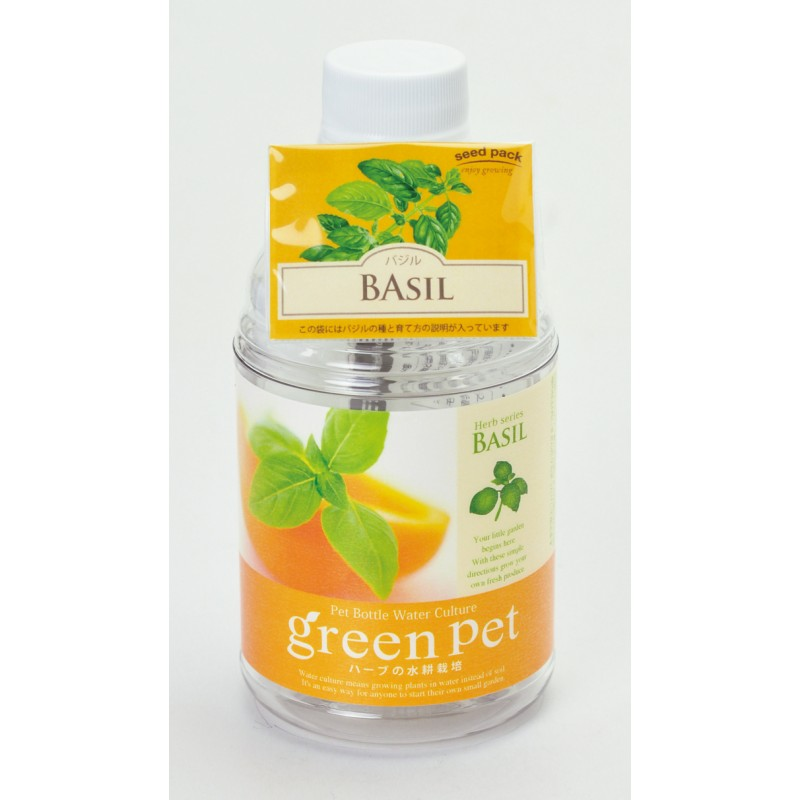 GF007 ปลูกผัก Hydroponic ในขวด PET -Basil