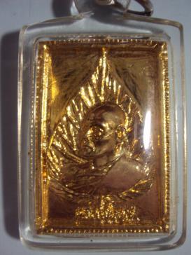 เหรียญหล่อหลวงพ่อแพหลังสิงห์ เนื้อทองดอกบวบ