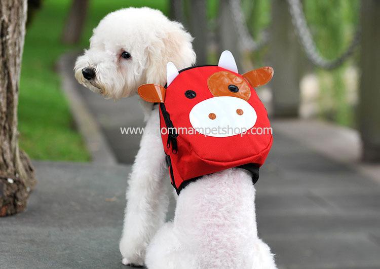 กระเป๋าเป้สุนัข กระเป๋าเป้แมว ลายหมูแดง สำเนา