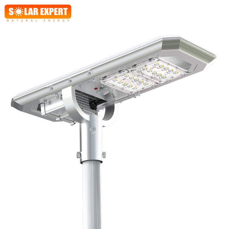 ASL02 โคมไฟถนนโซล่าเซลล์อัจฉริยะ Hi-Spec รุ่น ความสว่าง 2,000 Lumens