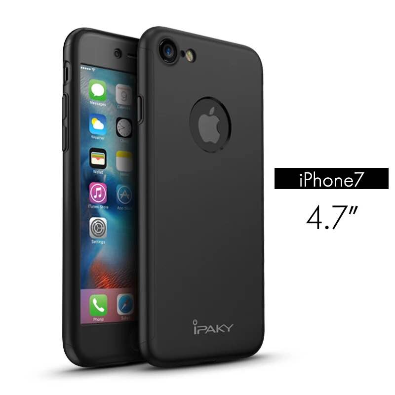 iPaky case 360 degree case iPhone 7-Black