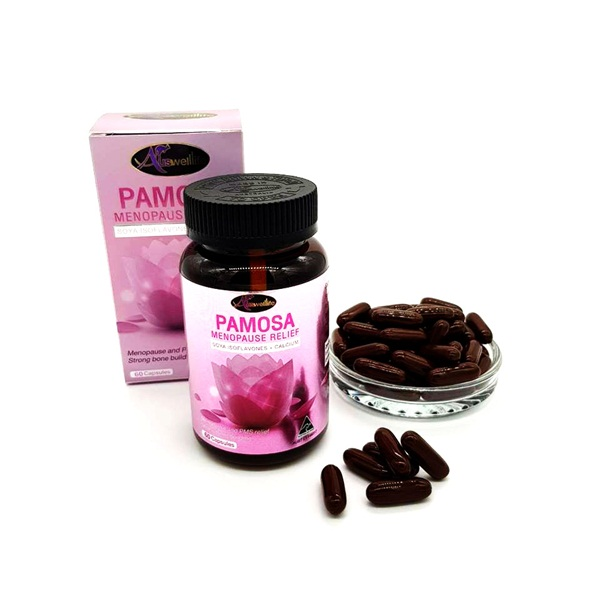 AuswellLife PAMOSA MENOPAUSE RELIEF (PMS) 60 แคปซูล ราคา 900 บาท ส่งฟรี EMS