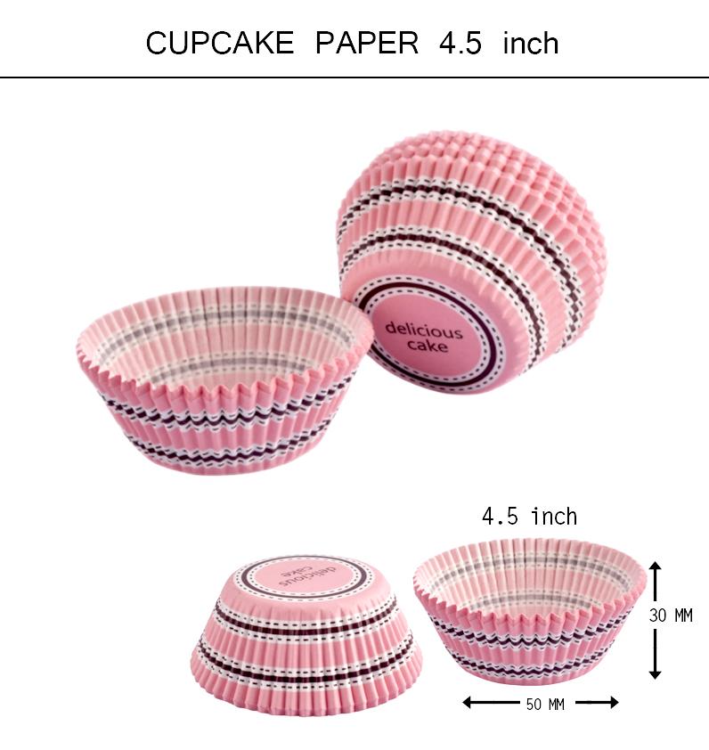 คัพเค้ก 4 ชั้น delicious cake ชมพู 4.5 inch
