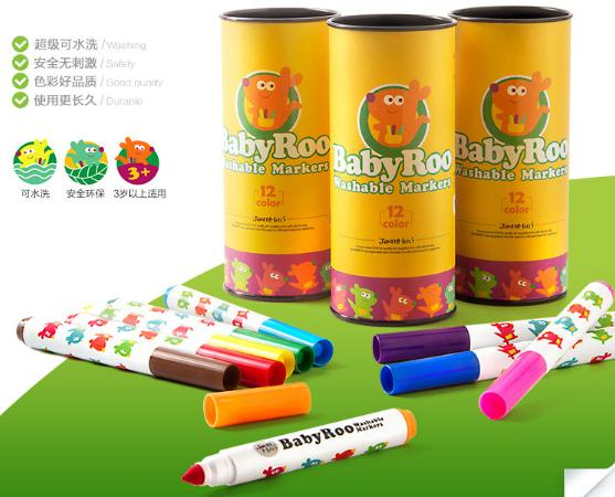Babyroo Non Toxic Washable Markers 12 color