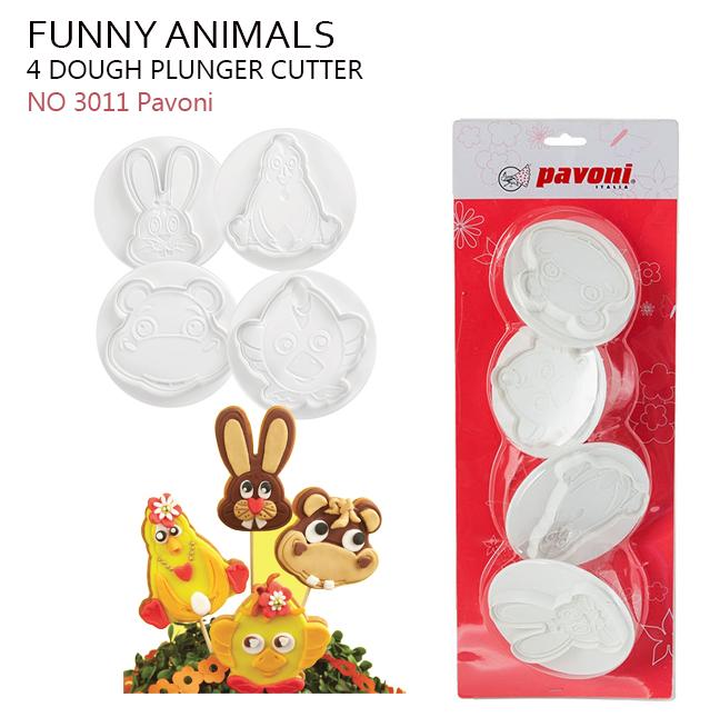 NO 3011 Pavoni Dough Cuter Funny Animals BiG(4ชิ้น)