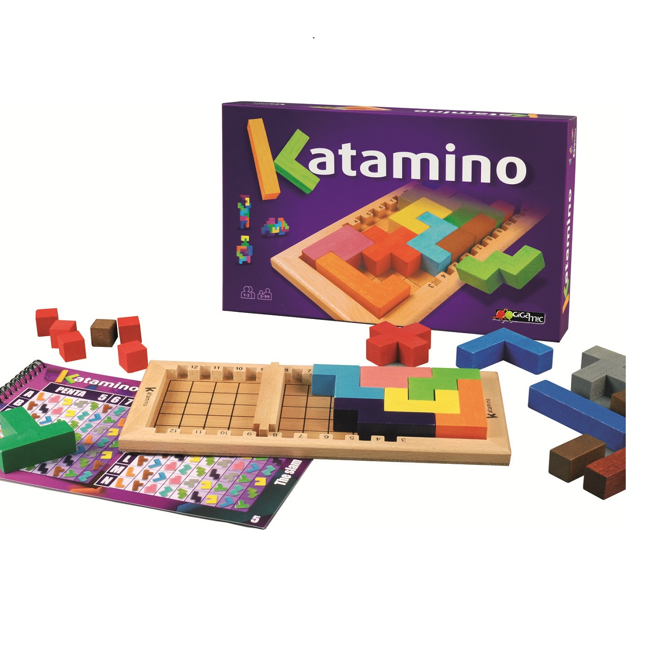 Katamino บล็อคไม้ Puzzle ลับสมอง