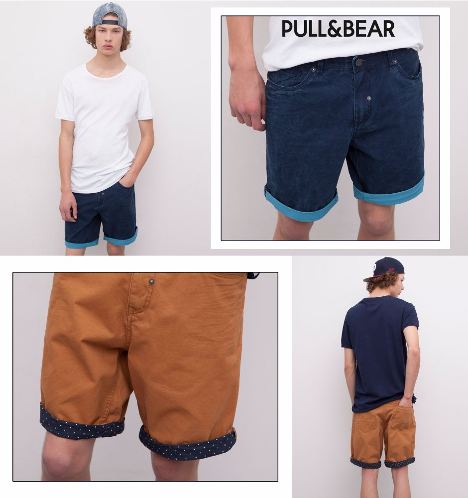 PULL & BEAR FIVE POCKET BERMUDAS