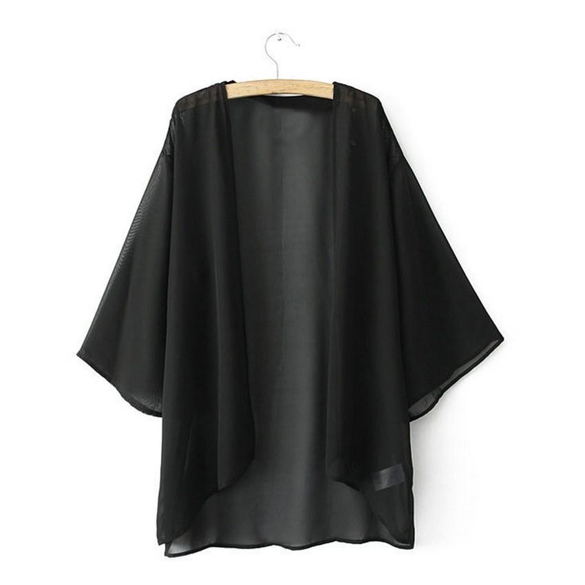 "Fashion S-5XL Women Bikini Cover Up Swimsuit Long Sleeve BathingBeach เน€เธชเธทเน‰เธญเธ""เธฅเธธเธกเธชเธงเธขเน† Swimwear Black - Intl"