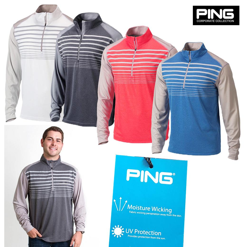 PING Imapct Golf Pullover Long Sleev Polo