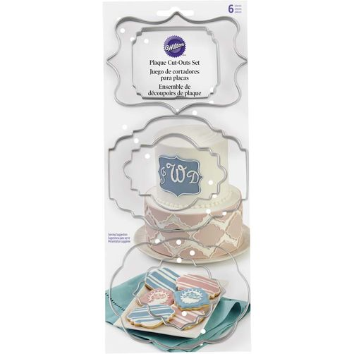 Wilton 6 PC Fondant Plaque Cut Out (417-7555)