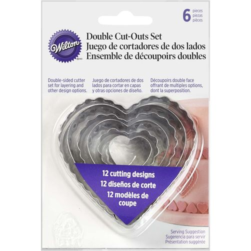 Wilton HEART FONDANT CUT-OUTS SET (417-2588)