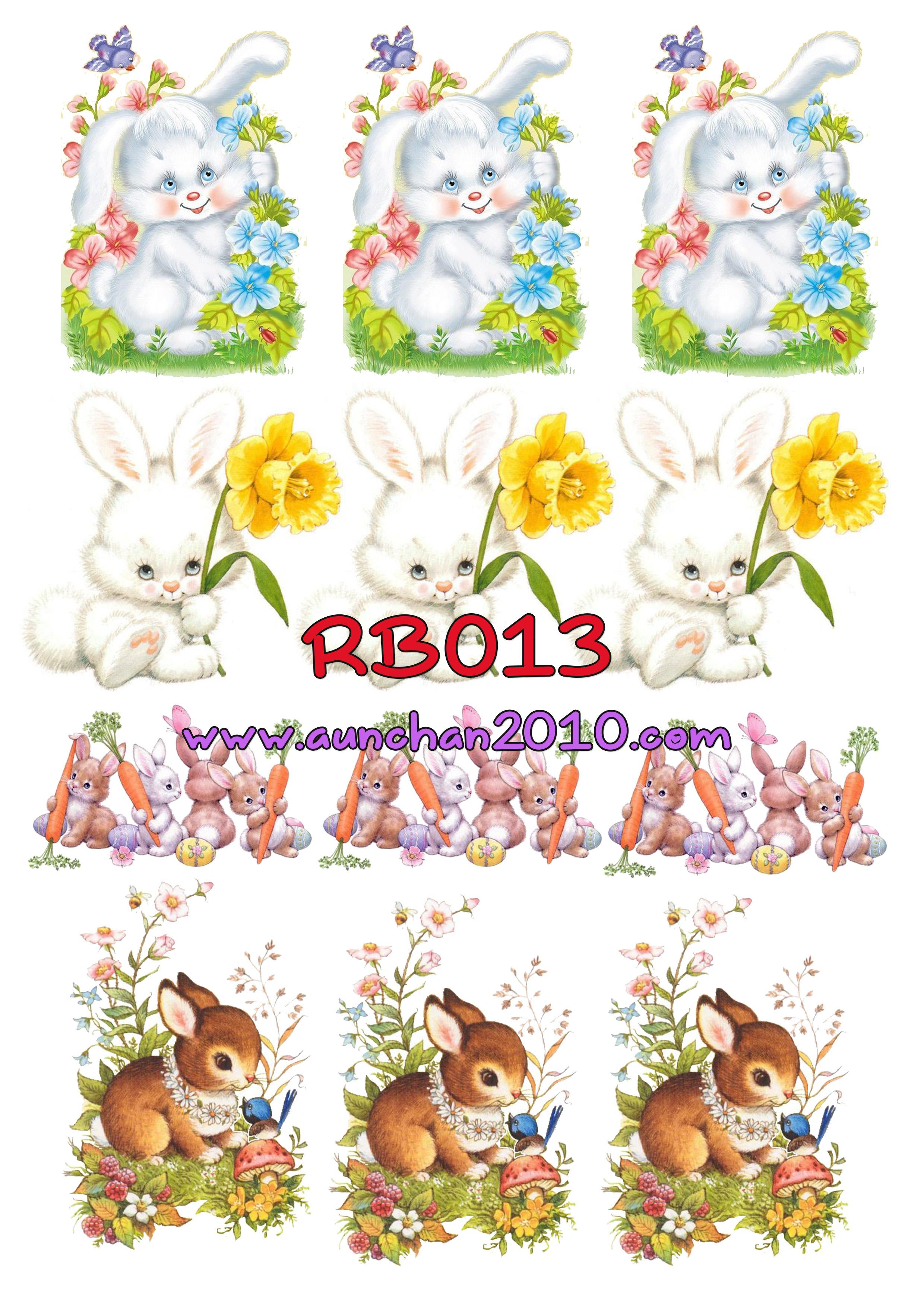RB013 กระดาษแนพกิ้น 21x30ซม. ลายกระต่าย