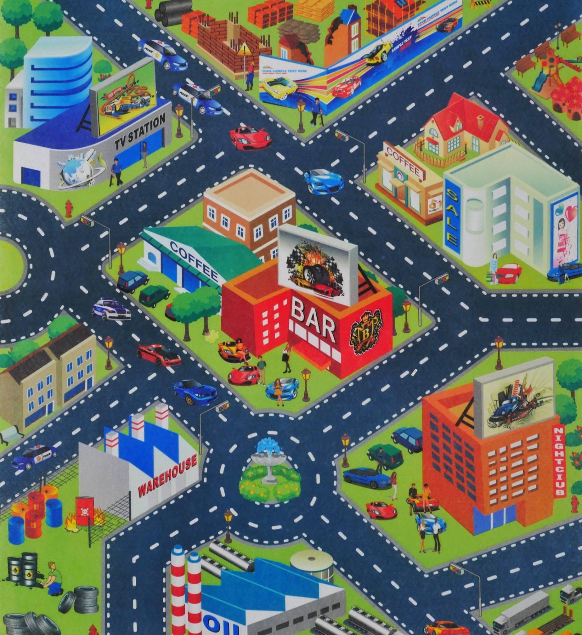 แผนที่ เมือง พร้อมรถ 1 คัน