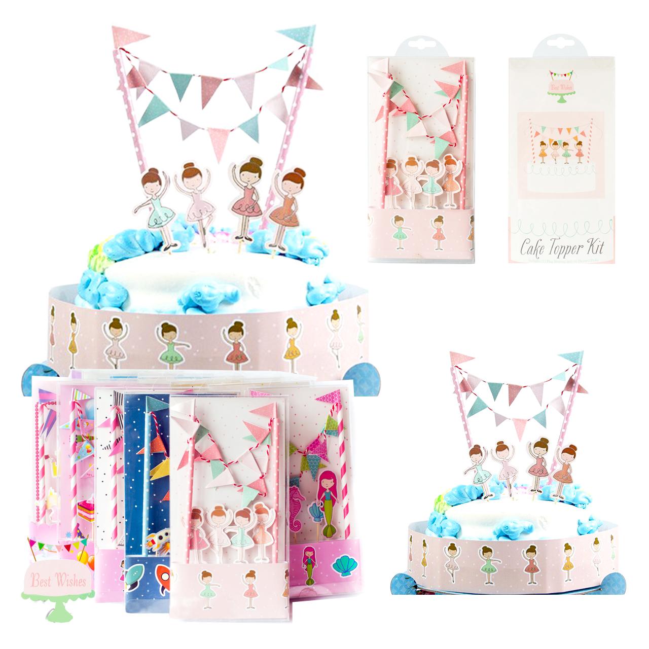 ชุดตกแต่งเค้ก แบบปัก รูป นักบัลเล่ต์ (CAKE Topper Kit)