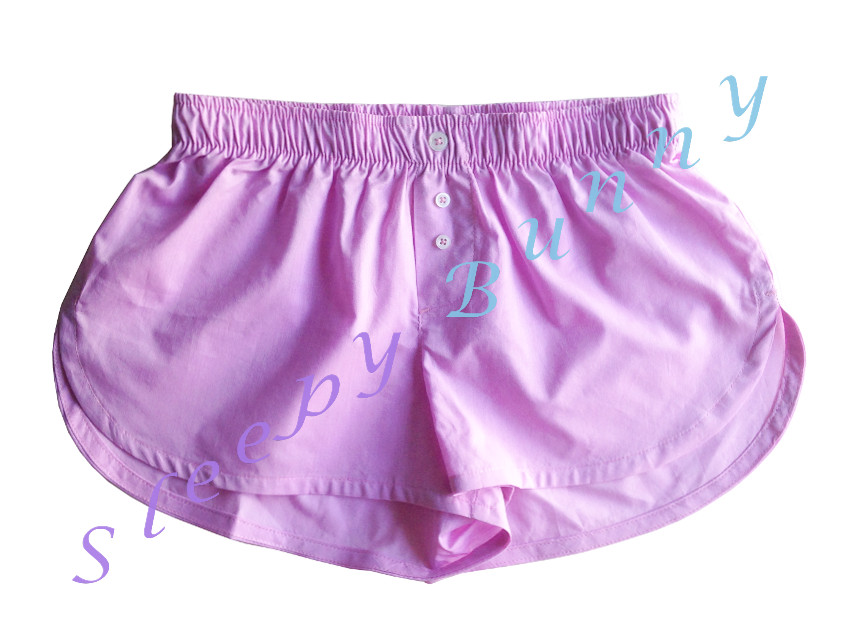 bx48 กางเกง boxer ผู้หญิง สีชมพู พร้อมส่ง Size S,M --> Pajamazz