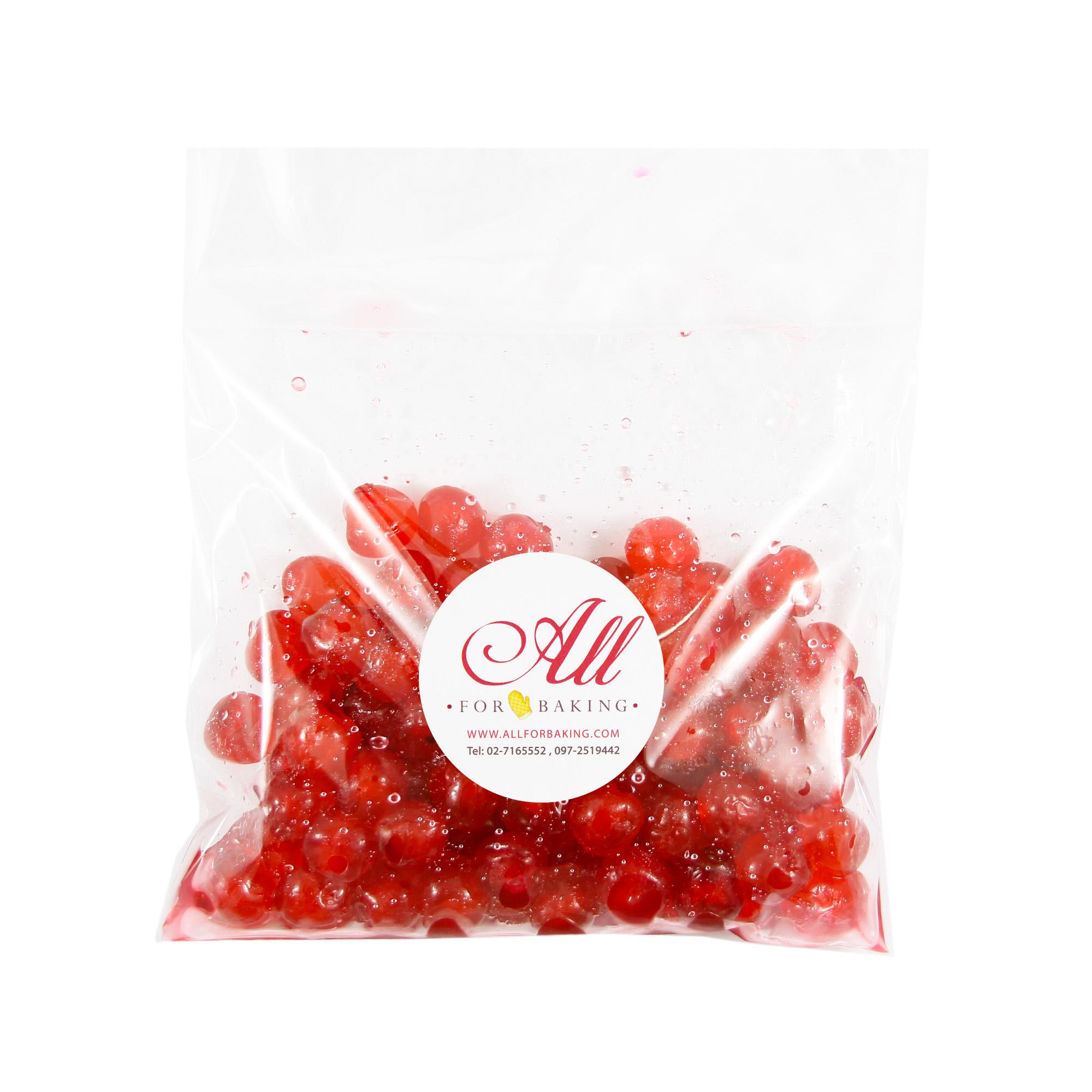 เชอรี่แดงเชื่อม นำเข้าจากอเมริกา (Red candied cherry) 500 g