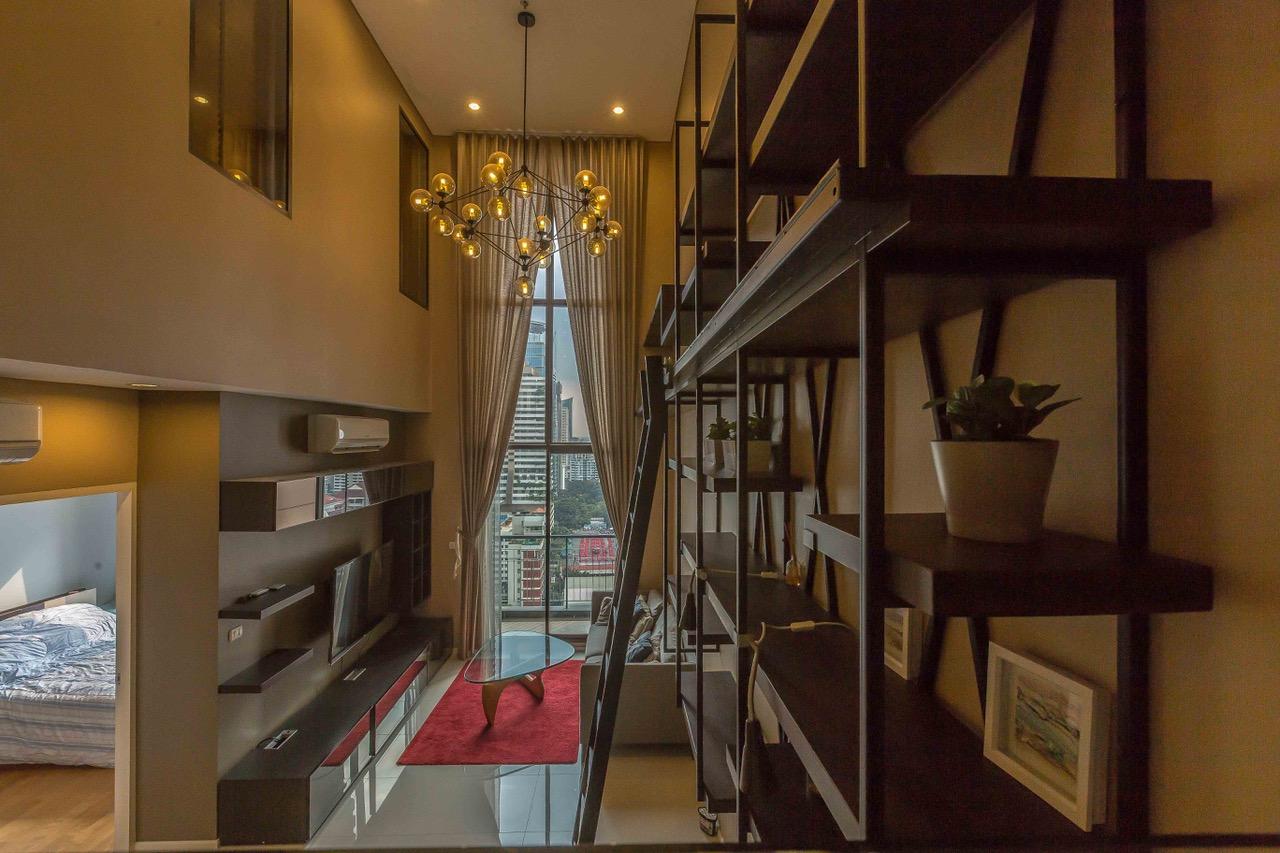 ให้เช่าคอนโด Villa Asoke (วิลล่า อโศก) 2 ห้องนอน 2 น้ำ ห้องDuplex ชั้น 21-22 ขนาด 92 ตรม