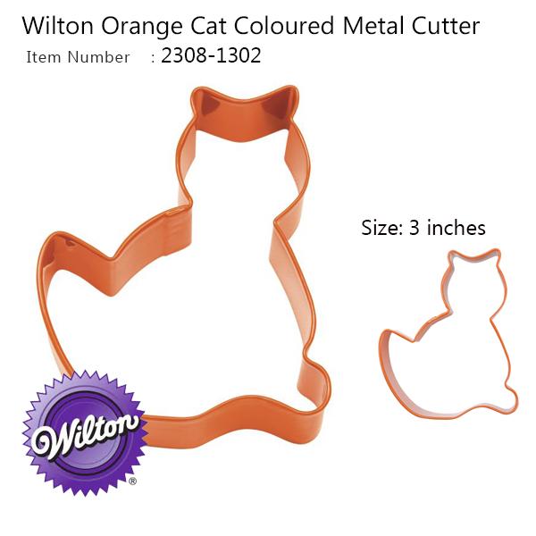 Wilton Orange 3 In Metal Cat Cutter (2308-1302)