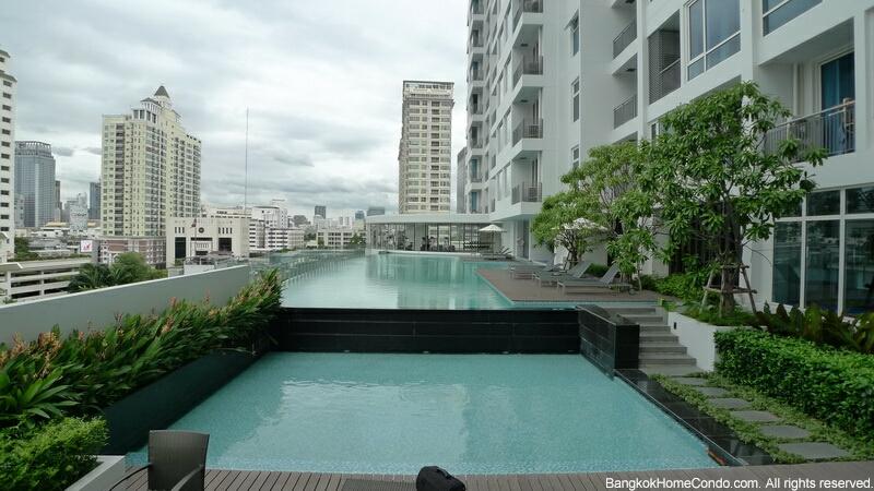 ให้เช่าคอนโด Villa Rachatewi พื้นที่ 42 ตร.ม ห้อง studio room ชั้น 28 ตกแต่งพร้อมอยู่ วิว 'World Trade tower' and 'Baiyok tower ใกล้ BTS ราคา 22,000 ต่อเดือน
