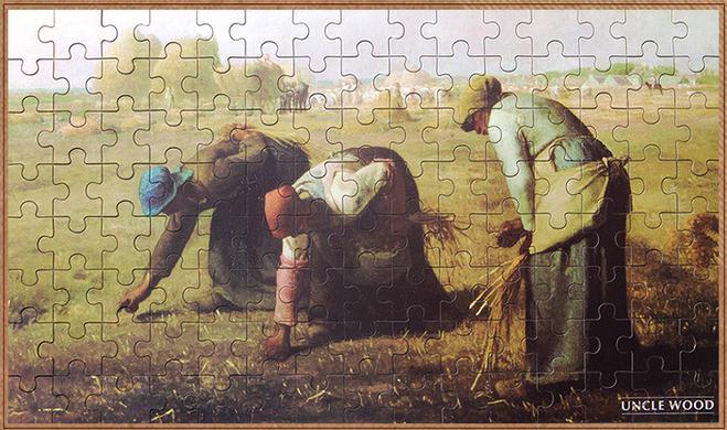 จิ๊กซอว์ ภาพศิลป์ระดับโลก Jigsaw Puzzle World class artists -The Gleaners (Des glaneuses)