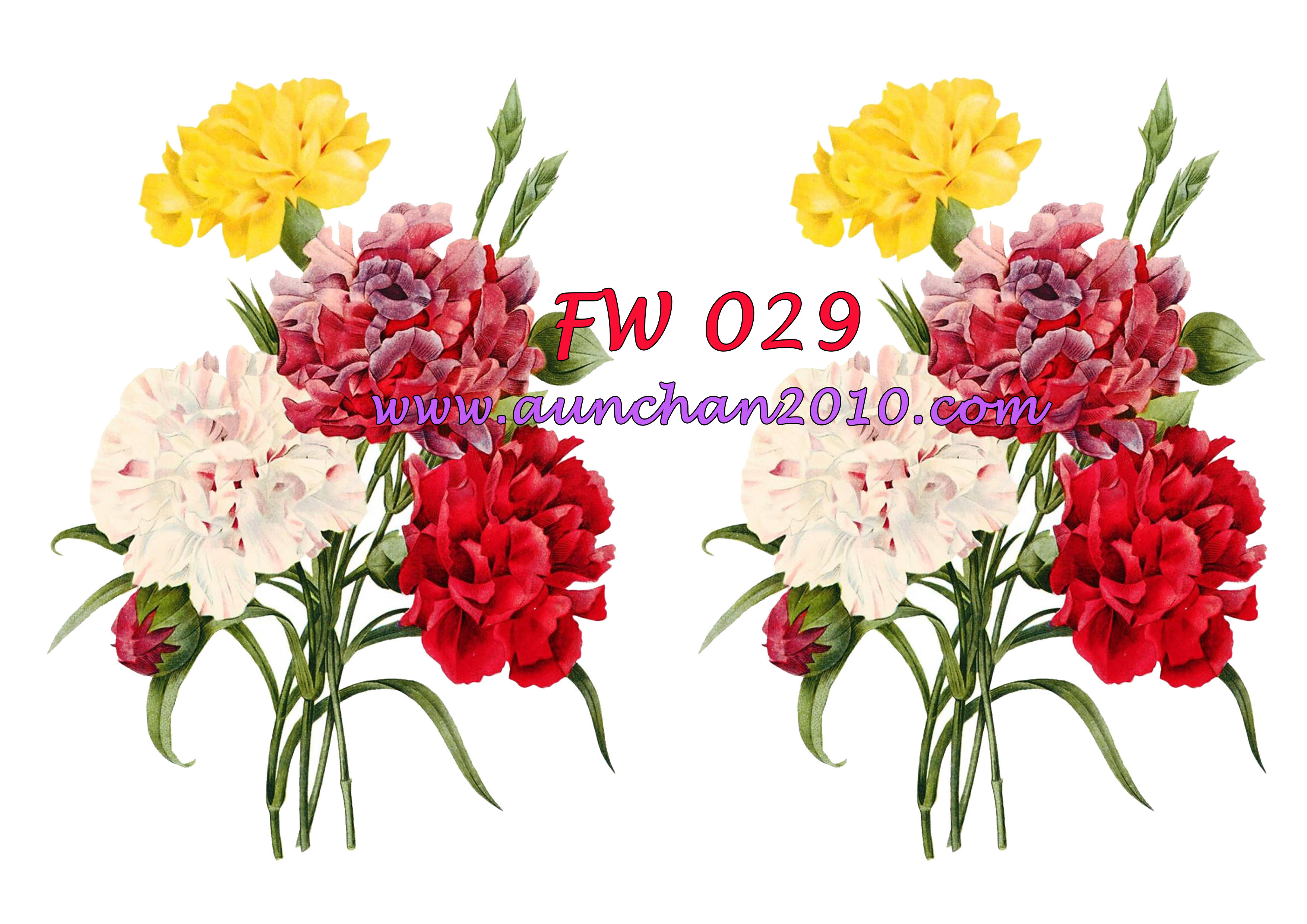 FW029 กระดาษแนพกิ้น 21x30ซม. ลายดอกไม้