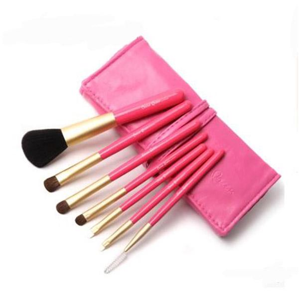 แปรงแต่งหน้า ชุดแปรงแต่งหน้า CerroQreen Makeup Brush Sets Set /7 ชิ้น - สีชมพู