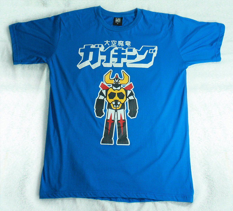 T-Shirt เสื้อยืดกันดั้ม ซุปเปอร์โรบ็อท ไกคิง Super Robot Gaiking สุดเท่ห์ สีฟ้า จากร้าน GUNZU !!โปรโมชั่น