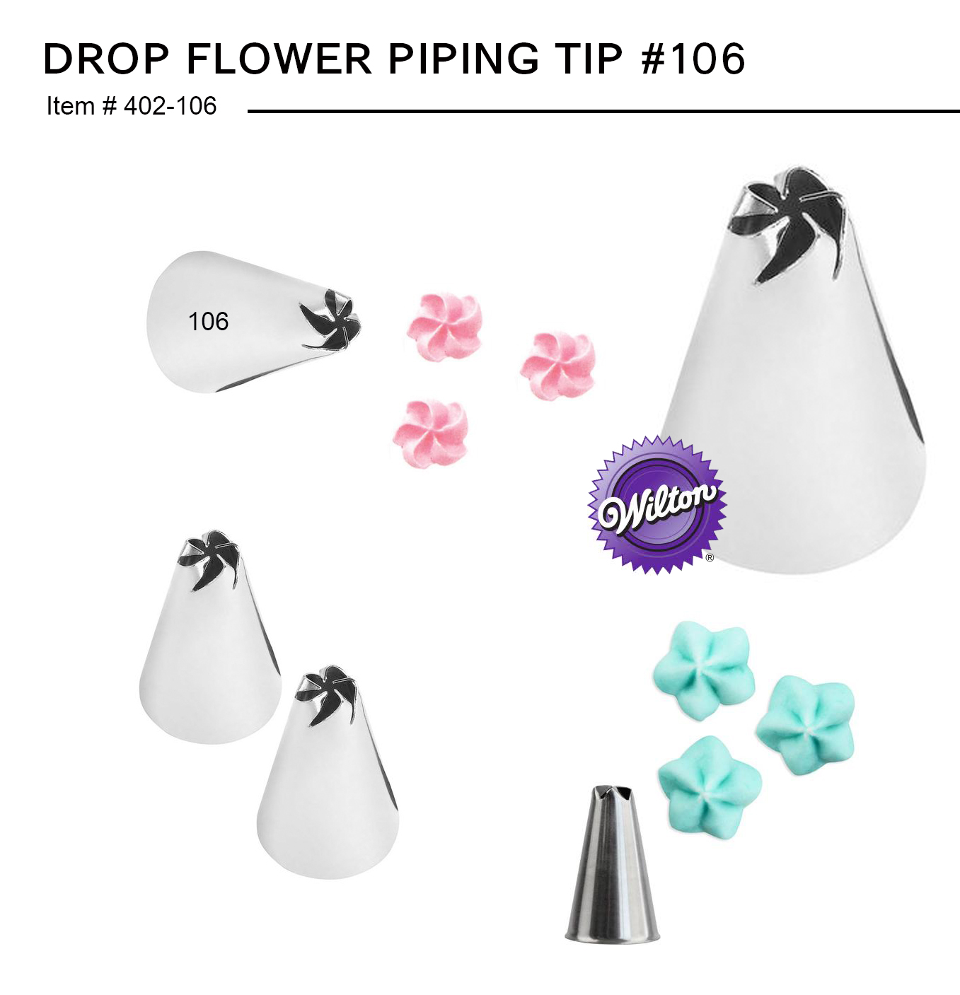 #106 DROP FLOWER PIPING TIP (402-106)