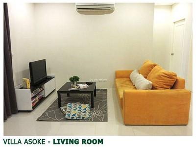 ขายคอนโด Villa Asoke (วิลล่า อโศก) 2 ห้องนอน 2 ห้องน้ำ ห้องมุม วิวสระว่ายน้ำ ชั้น 12A พื้นที่ 81 ตรม.