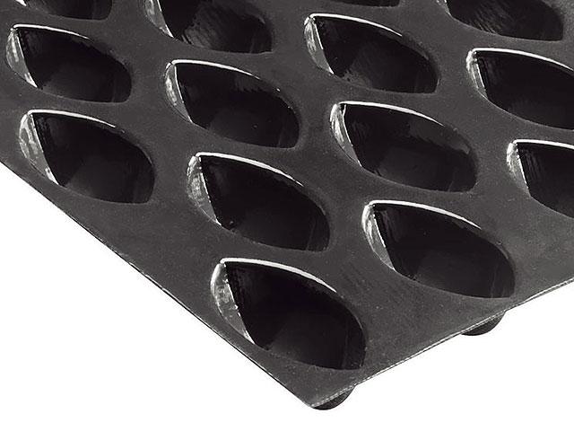 Matfer flexipan 43 quenelles 67x36x27mm-mat size GN1/1 (58*32 cm) 336181