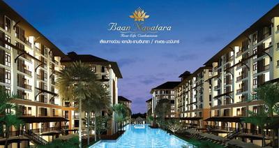 ให้เช่าคอนโด บ้าน นวธารา BAN NAVATARA CONDOMINIUM ราคา 12,000 / เดือน วิวสระว่ายน้ำ ชั้น 7 อาคาร E ห้องขนาด 34 ตรม. 1 ห้องนอน
