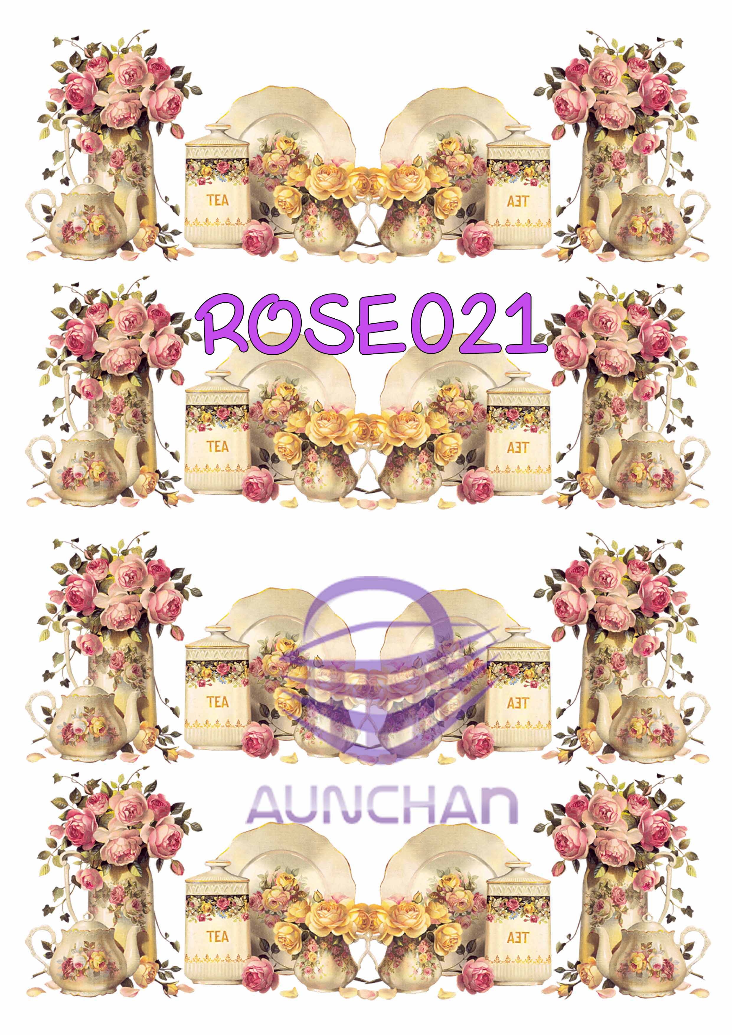 ROSE021 กระดาษแนพกิ้น 21x30ซม. ลายกุหลาบ