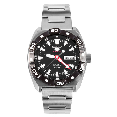 Seiko 5 Sports Automatic black Dial Stainless Steel Mens Watch SRP285K1