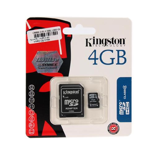 Micro SD Card 4GB Kingston (SDC4, Class 4) ของแท้ ประกันศูนย์ไทย