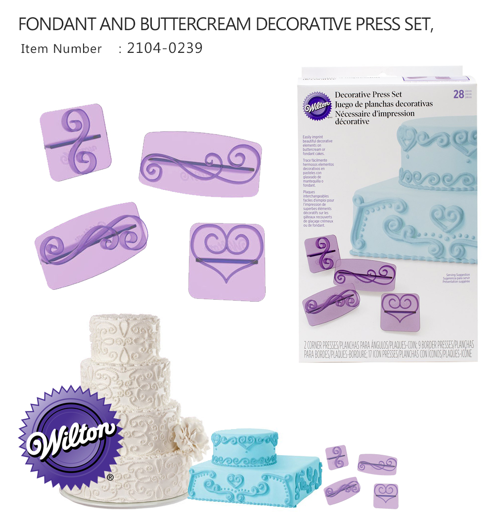 Wilton 28 PC Decorative Press Set (Wilton 2104-0239)