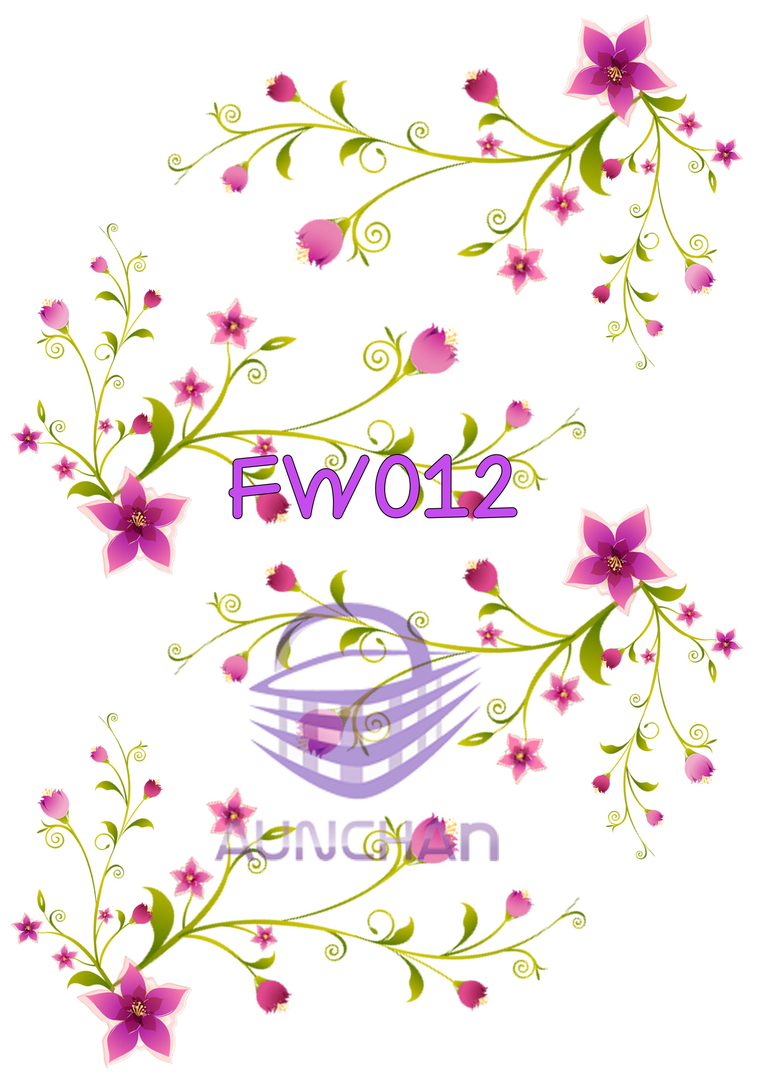 FW012 กระดาษแนพกิ้น 21x30ซม. ลายดอกไม้