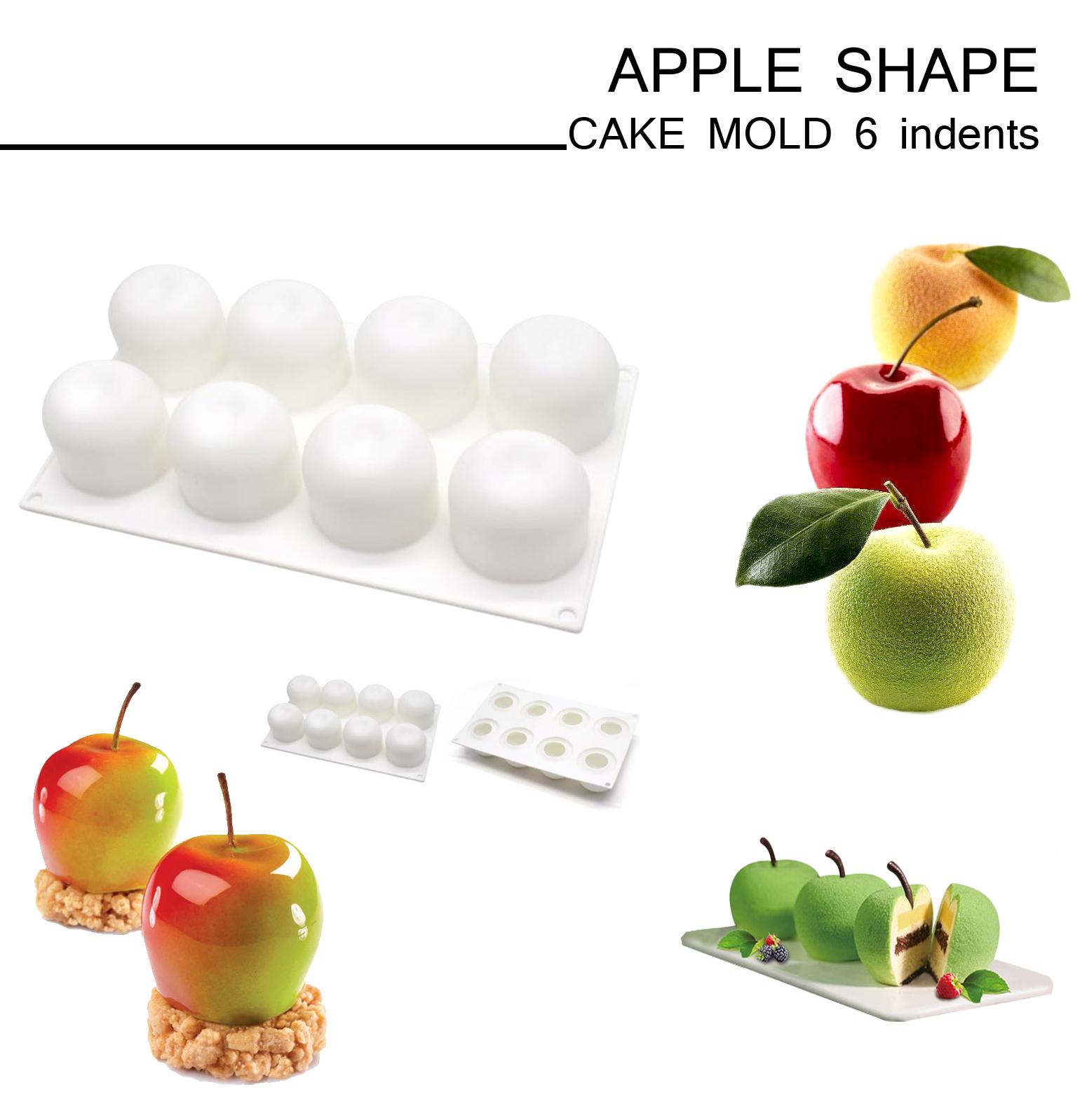 APPLE SHAPE CAKE MOLD 6 indents