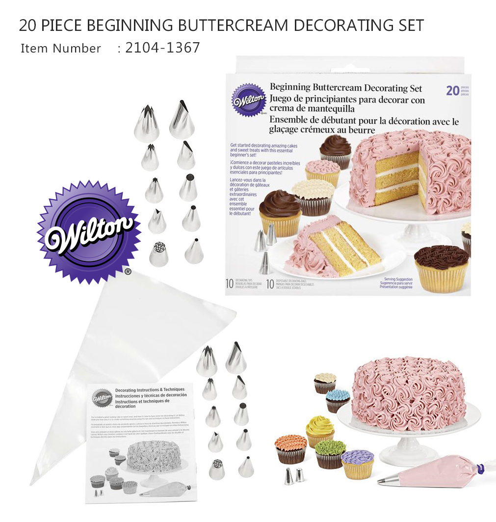 Wilton 20 PC Cake Decorating Piping Set ( 2104-1367)